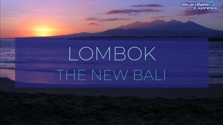 Sunrise over Mount Rinjani. From Gili Trawangan in Lombok, the new Bali