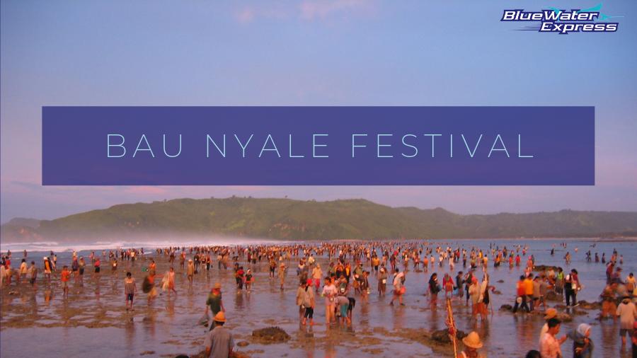 Lombok people catching Nyale at sunrise during Bau Nyale Festival on Mandalika beach, Lombok, the new Bali.