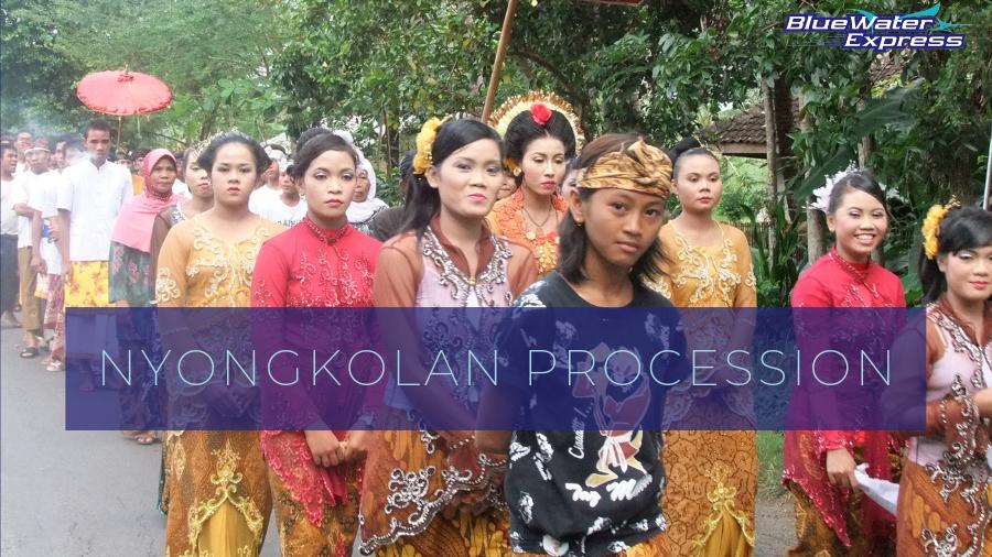 Nyongkolan bride's procession, a Sasak wedding tradition. In Lombok, the new Bali.