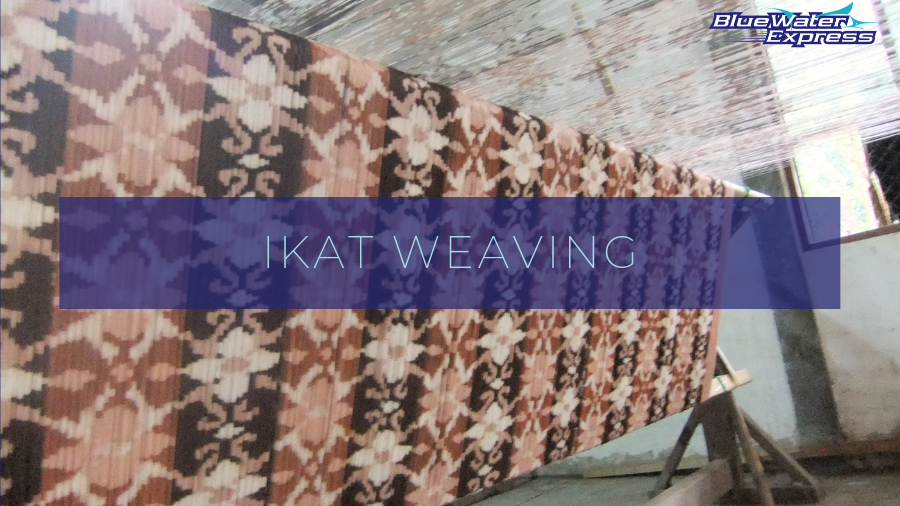 Ikat weaving, traditional handicraft, crafted fabric from Indonesia and Lombok, the new Bali.