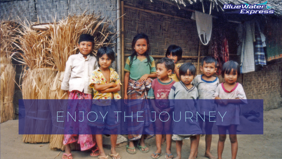 Young Sasak children smiling in Lombok, the new Bali.