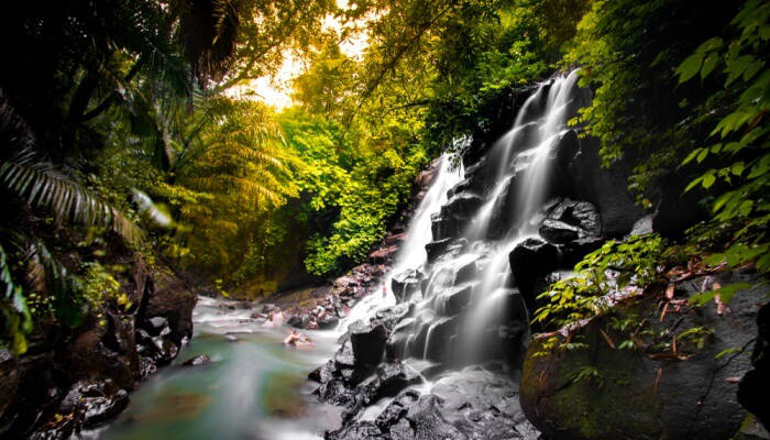 We think Kanto Lampo is the most beautiful of all the waterfalls in Ubud but not one of the secret Bali waterfalls anymore