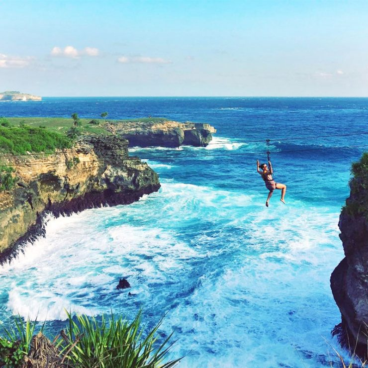 Swinging across crashing waves between cliffs or finding your inner Tarzan or Jane in the jungle is definitely one for the adventure lovers in Bali.