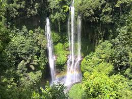 Sekumpul waterfall is a group of 6 cascades with the main two falls starting 80 metres above the valley floor.