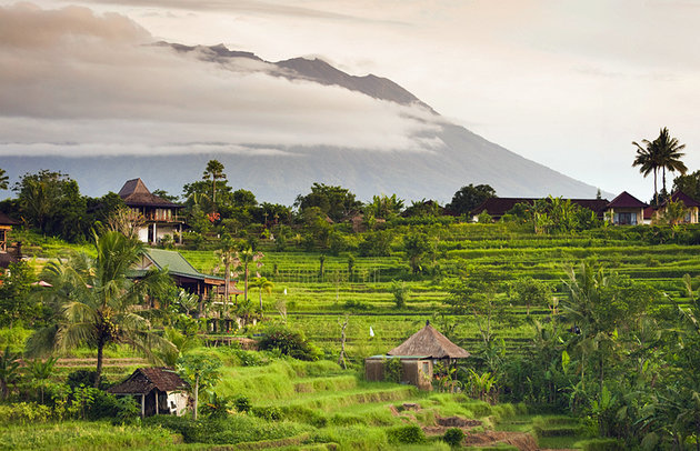 Lush green rice fields and traditional villages will meet you at every turn in the sleepy Sidemen Valley